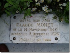 Monet Inscription
